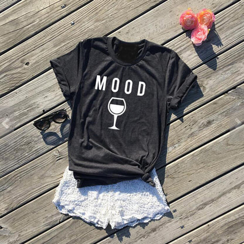 Tees MOOD Wine Graphic T-Shirt Hipster