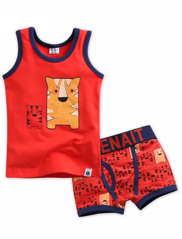 Tiger Under Shirt & Boxer Set