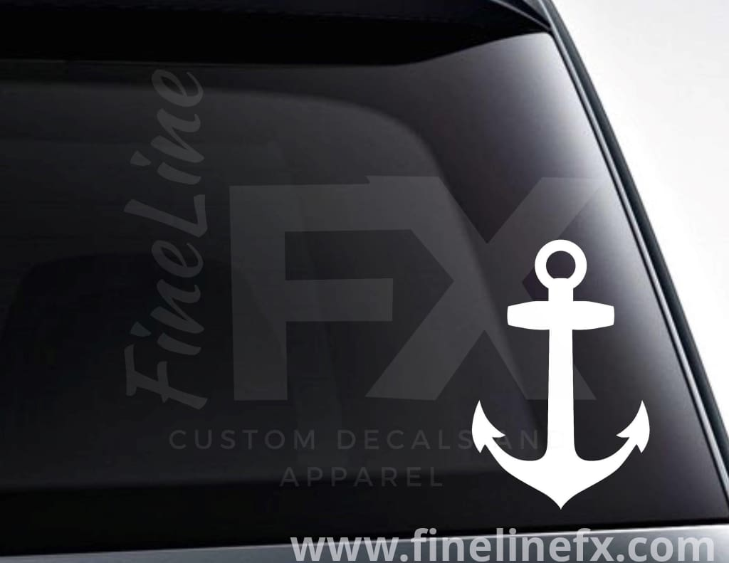 Boat Anchor Nautical Vinyl Decal Sticker
