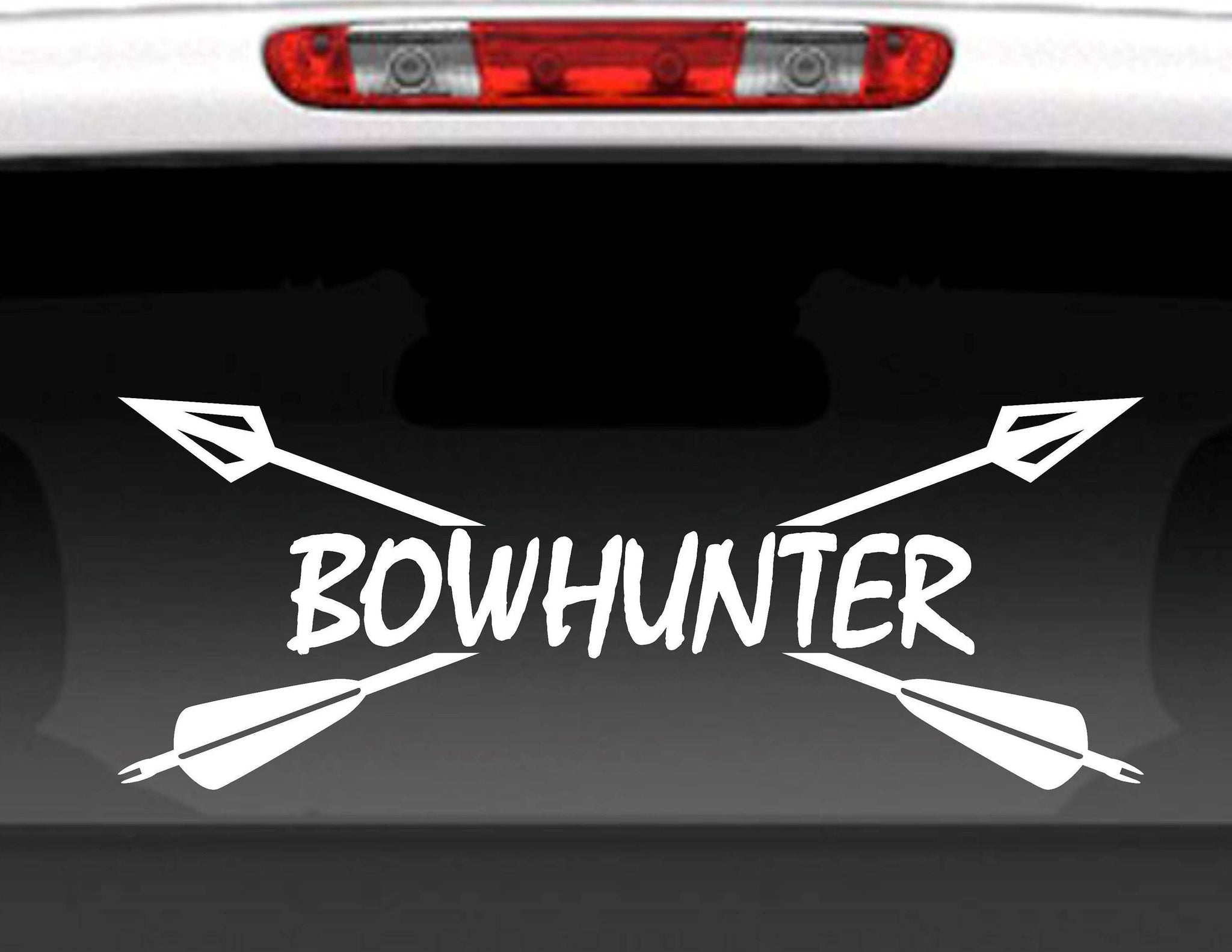 Bow Hunter Crossed Arrows Vinyl Decal Sticker
