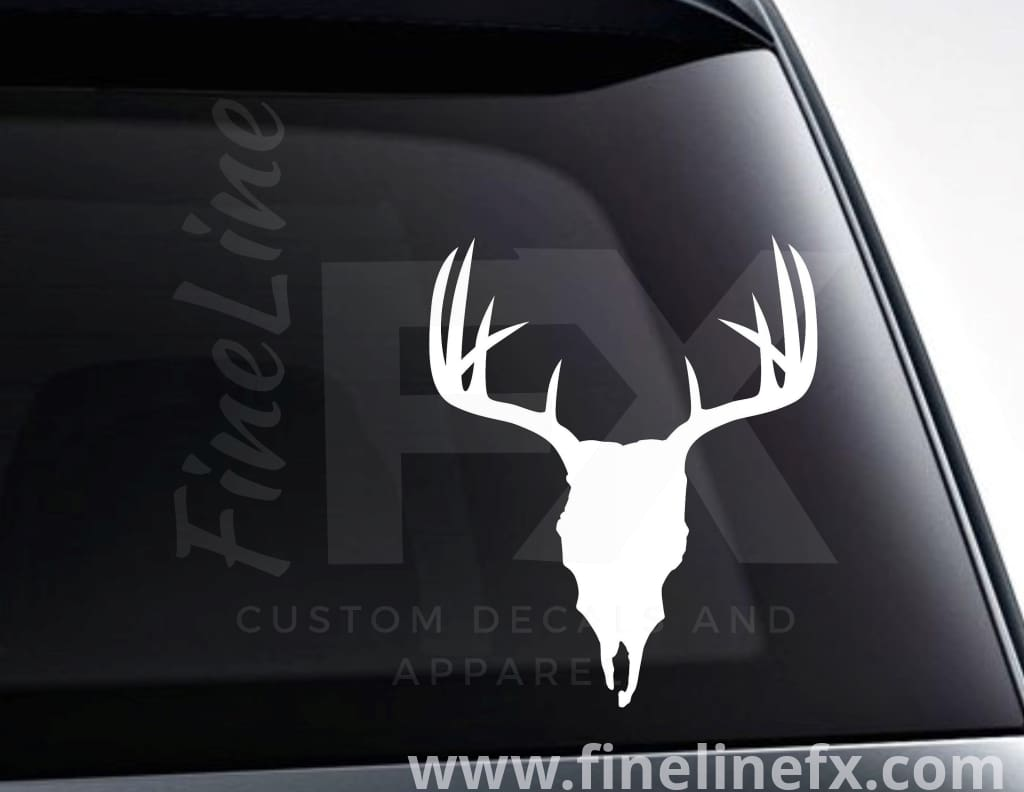 Deer Skull Vinyl Decal Sticker