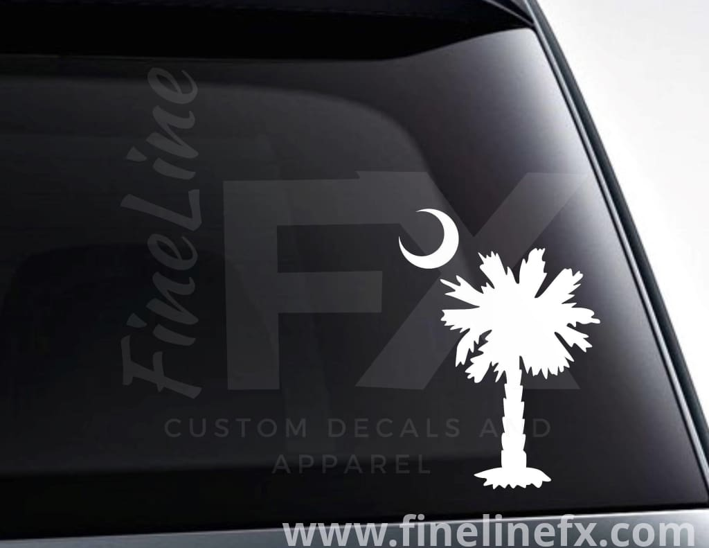 Palmetto Moon Vinyl Decal Sticker