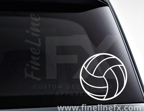 Volleyball Vinyl Decal Sticker