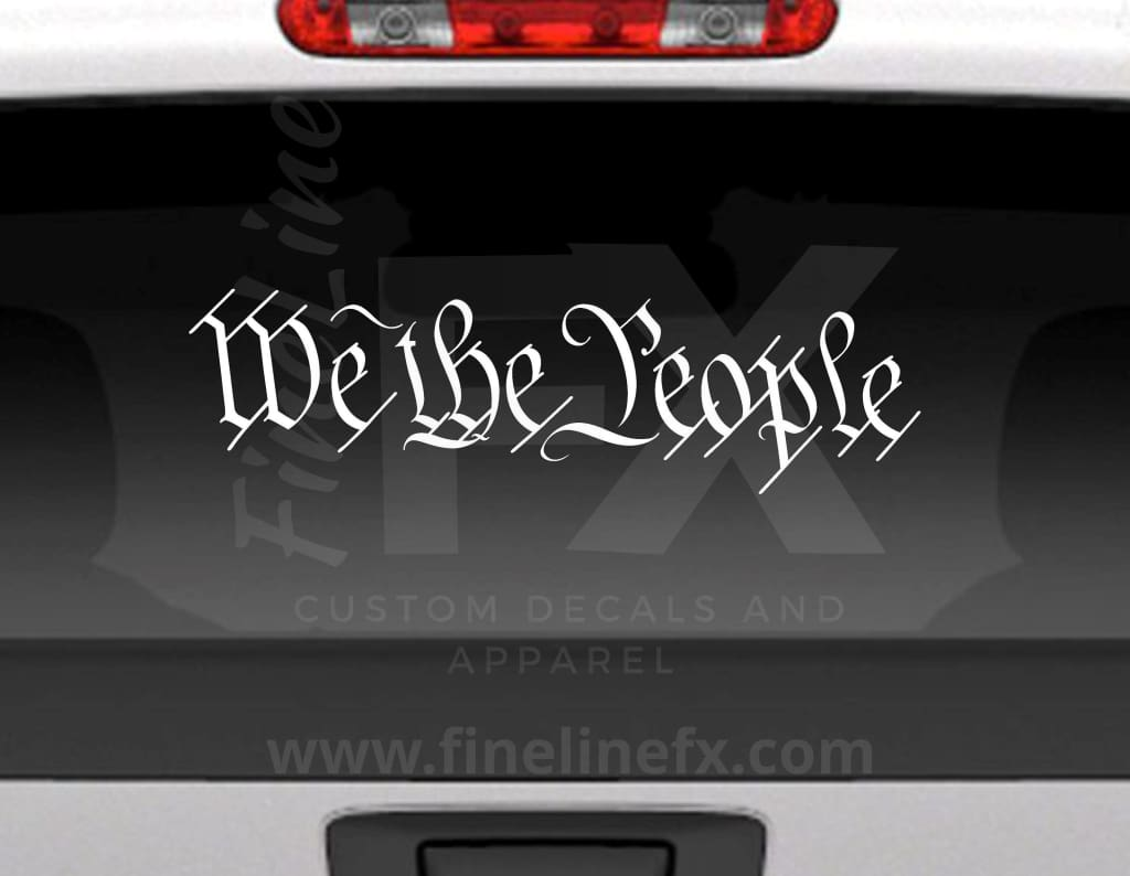 We The People Vinyl Decal Sticker Constitution Preamble
