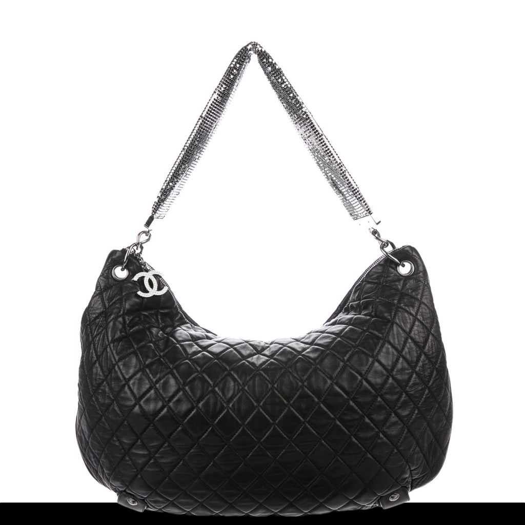 Chanel Limited Edition Jumbo Mesh Chain Lambskin Quilted Hobo Satchel