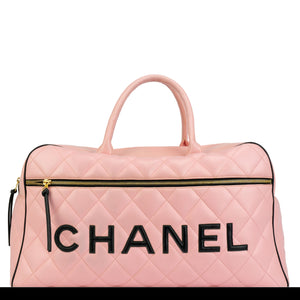 Chanel Pink Vintage Overnight Duffel Bag