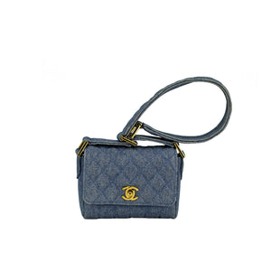 Chanel Mini Denim Vintage Flap