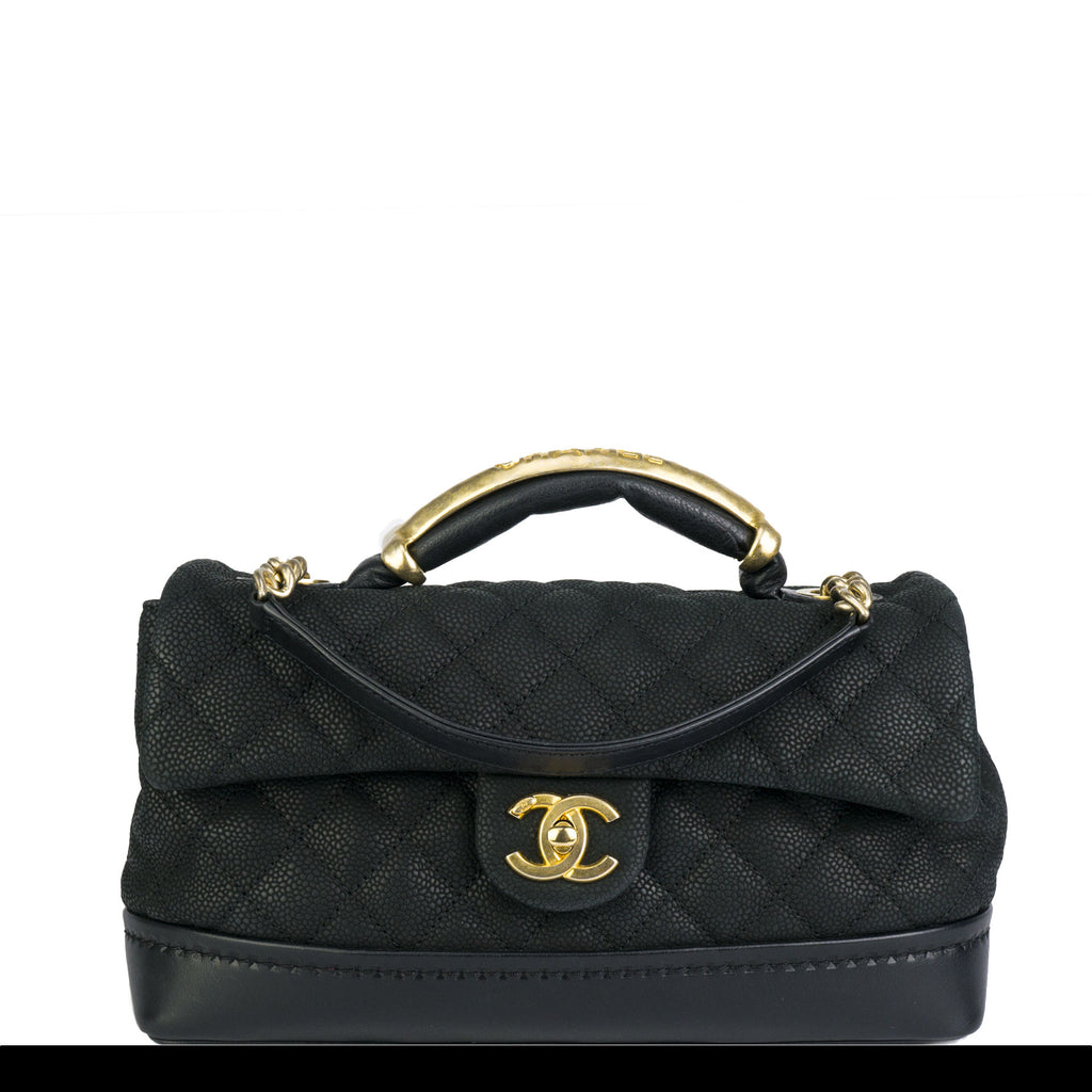 Chanel Iridescent Caviar Grain Vanity Tote Crossbody Flap