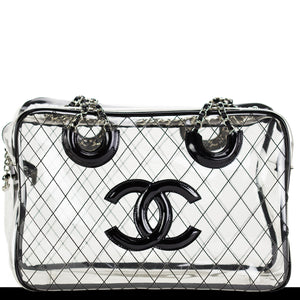 Chanel XL Transparent Naked See Through Vintage Tote