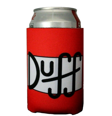 The Simpsons - Duff Beer Can Label Cold Beverage Can Cooler