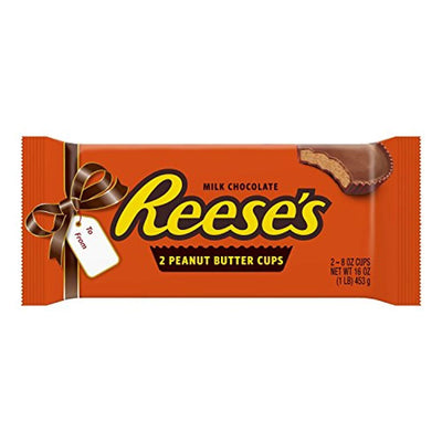 Worlds Largest REESE'S Peanut Butter Cups, Chocolate Candy, 1 Pound, 2 Cups