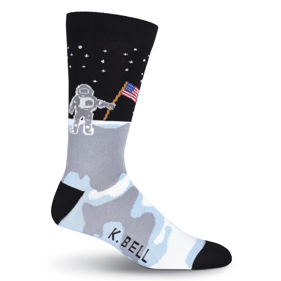 Men's Man On the Moon Crew Socks - XEJRA