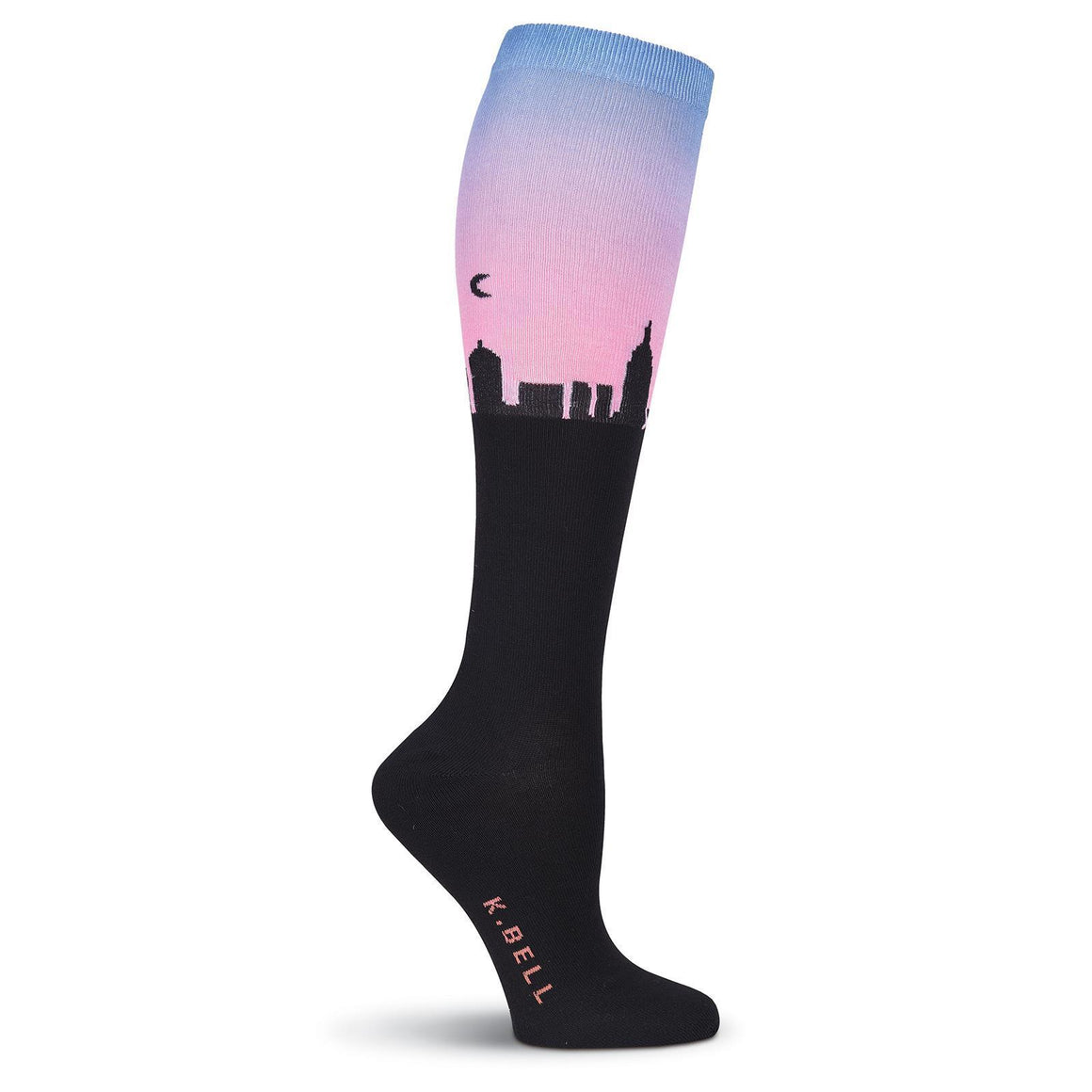 Skyline at Dusk Knee High Socks - XEJRA