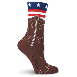 American Flag Boot Crew Socks- Made in America - XEJRA