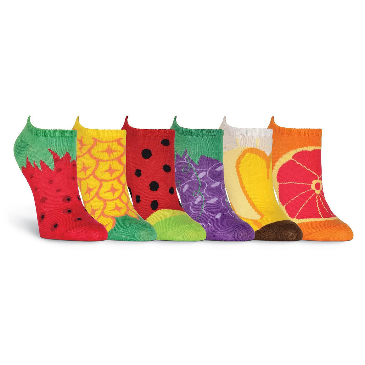 Fruit 6 Pair Pack - No Show Socks - XEJRA