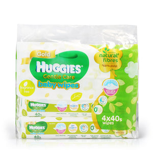 Huggies Baby Wipes Gentle Care 4x40pcs