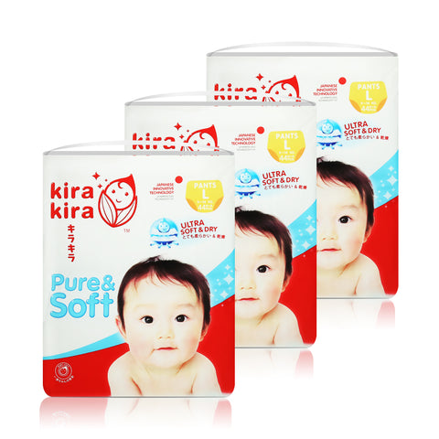KIRA KIRA Baby Diapers Pants Jumbo pack x 3 packs