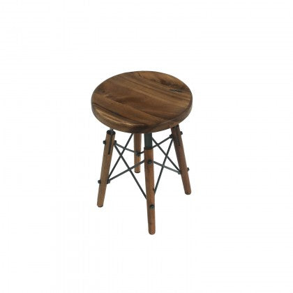 Metal X-Base Dining Stool