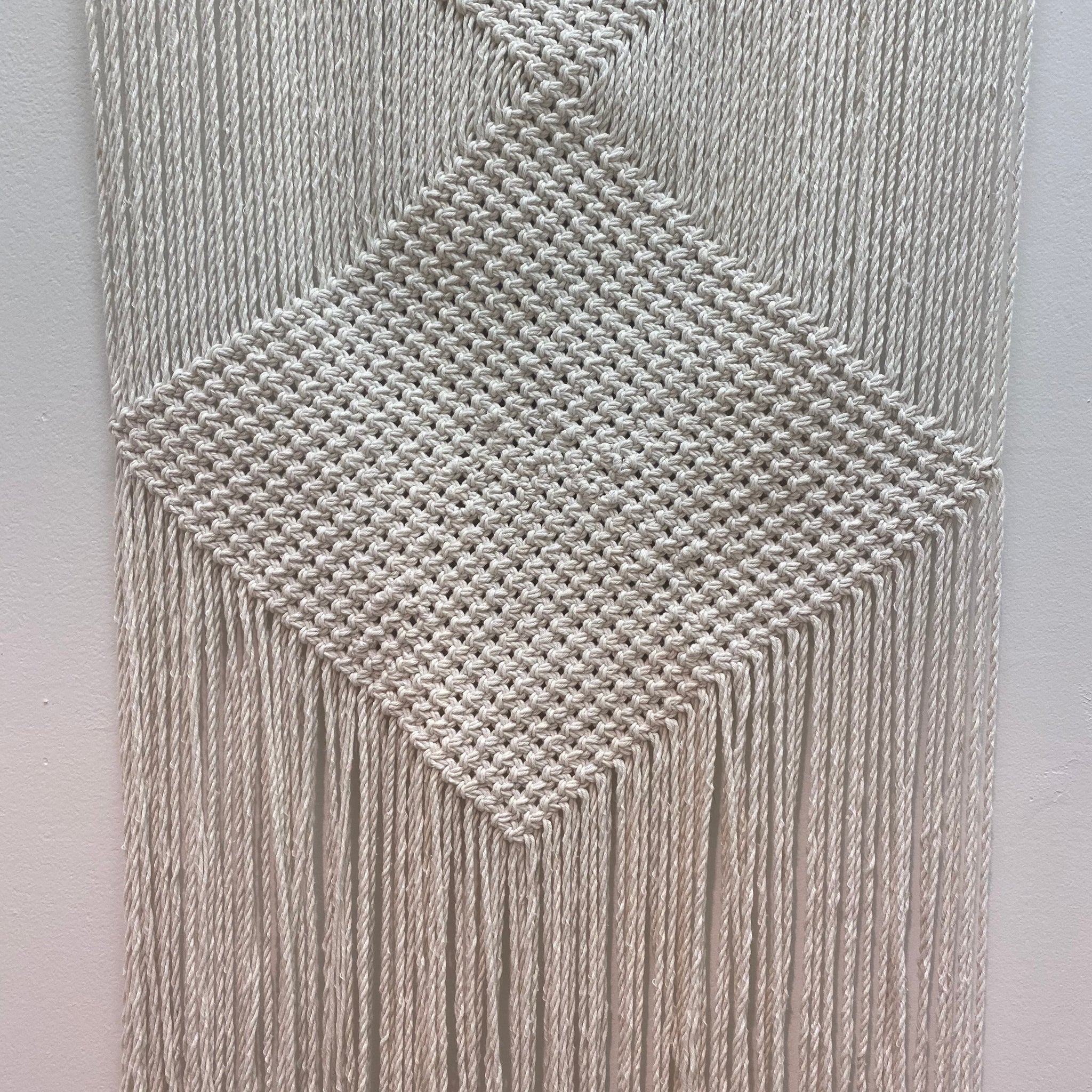 Woven Diamond Wall Hanging