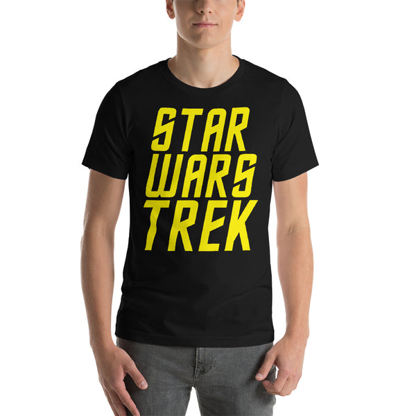 "Classic T-Shirt (Black) - Design ""Star Wars Trek"""
