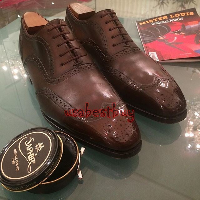 New Handmade Latest Style Brown Genuine Leather Shoes, Men leather Shoes Lace