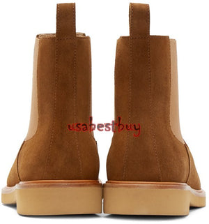 New Handmade Latest Style Brown Leather Chelsea Boots, leather boots for men