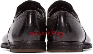 New Handmade Antique Style Men Pure Leather Shoes in Black Colour, Dress shoes