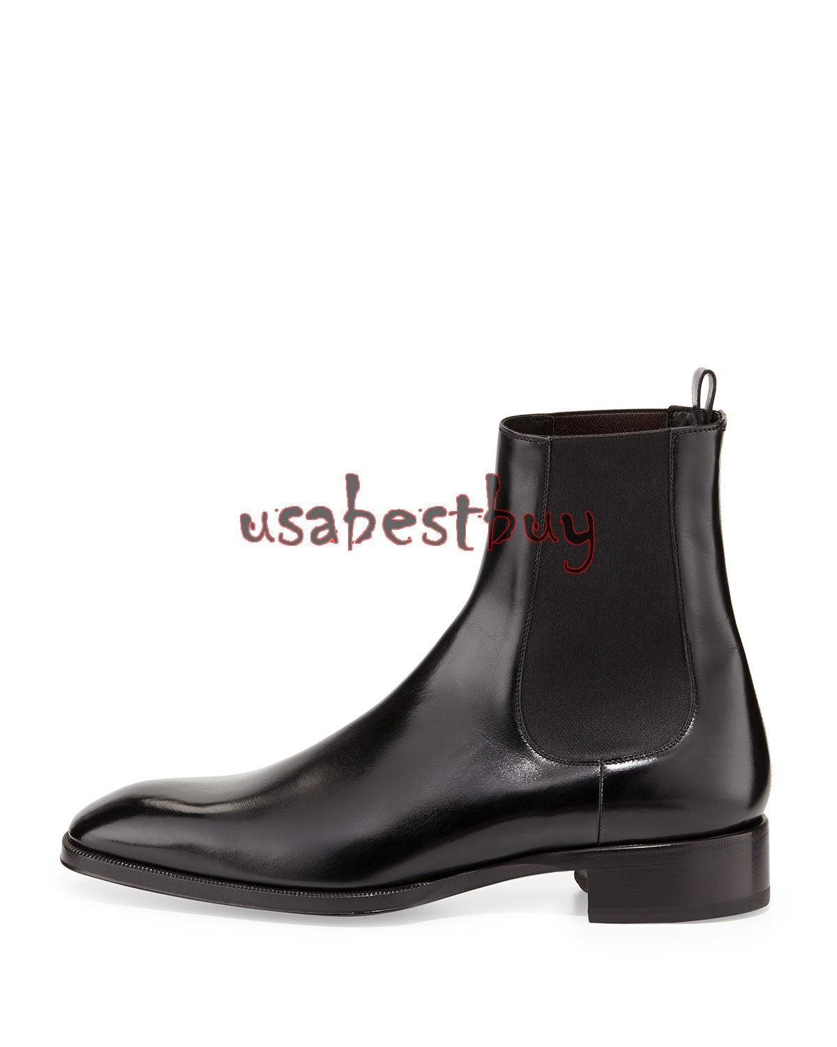 New Handmade Latest Stylish Black Leather Chelsea Boots, Men Real leather boots