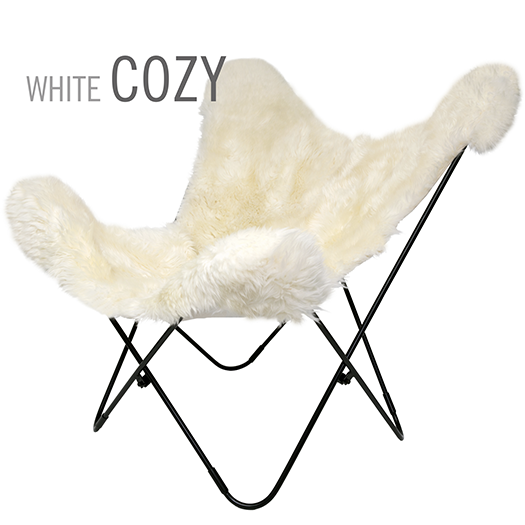 Sheepskin Off-White Cozy Butterfly Leather Chair