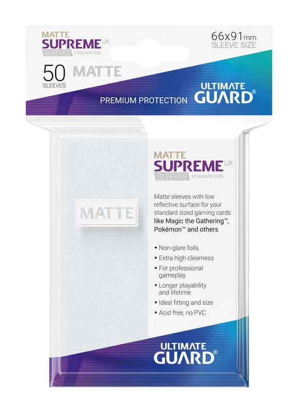 Ultimate Guard Supreme UX Sleeves Standard Size Matte Frosted (50)