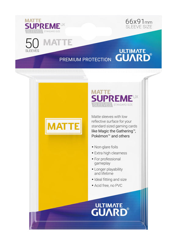 Ultimate Guard Supreme UX Sleeves Standard Size Matte Yellow (50)