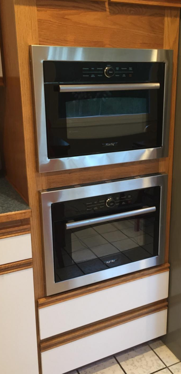 "Master Chef 5 Ovens in 1,  24"" Built in Convection Microwave Oven w/Drop Down Door, including Trim Kit"