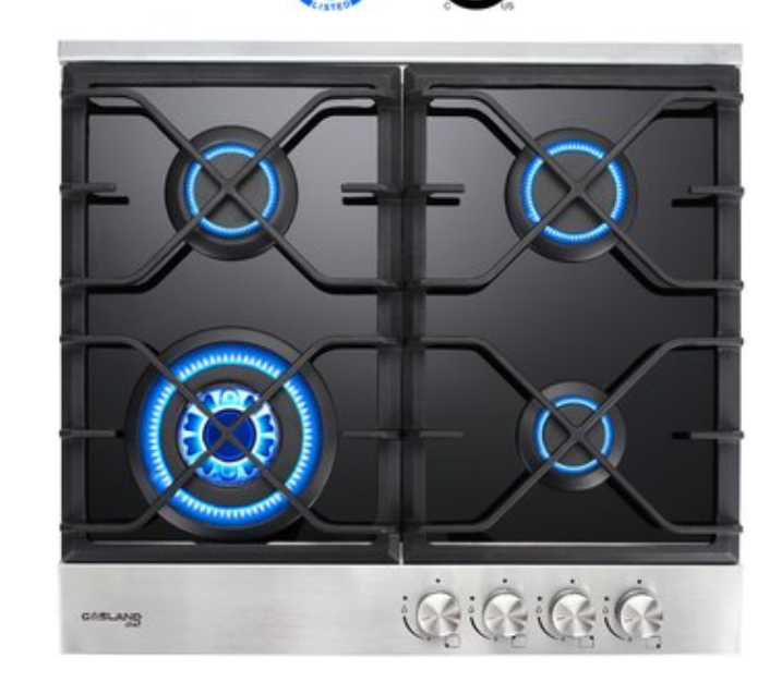 "Master Chef, 5 Ovens in 1 Built In Convection Microwave w/Drop Down Door + 24"" Natural Gas Cooktop"