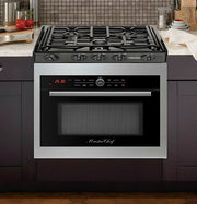 "Master Chef, 5 Ovens in 1, 24"" Built In Convection Microwave Oven w/Drop Down Door + 24"" Gas Cooktop"