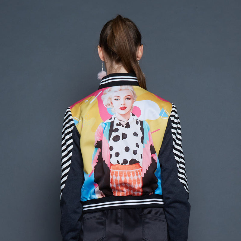 Varsity Jacket With Marilyn Pop Art