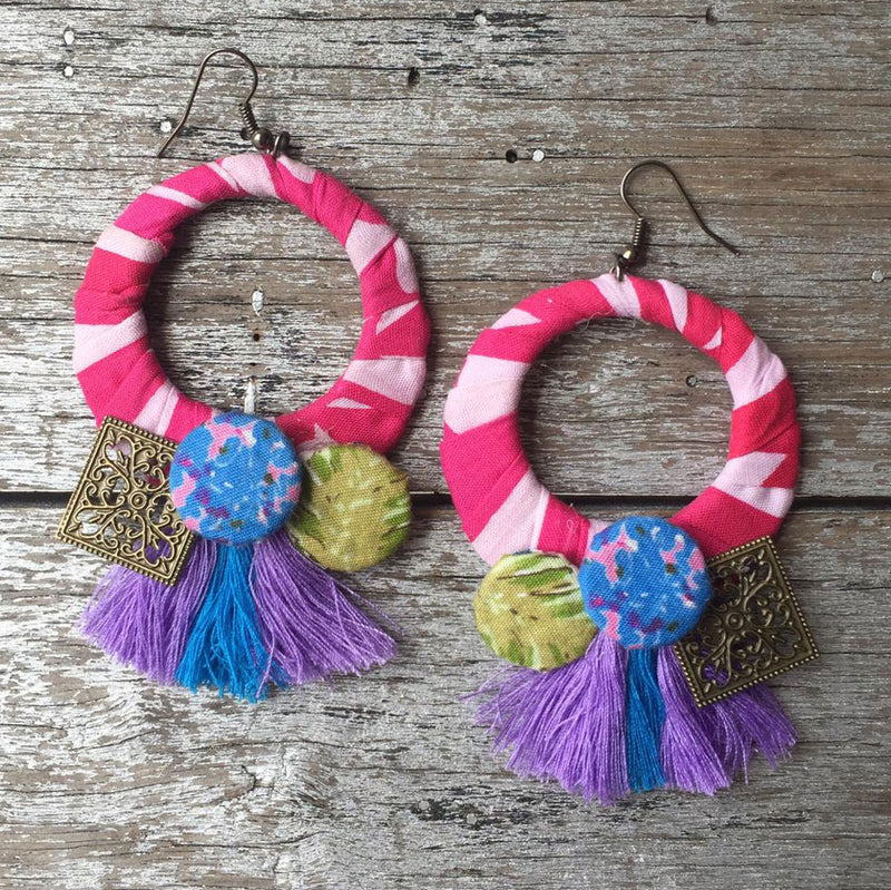 Pink Hoop Tassel-2Madison Avenue Indonesia