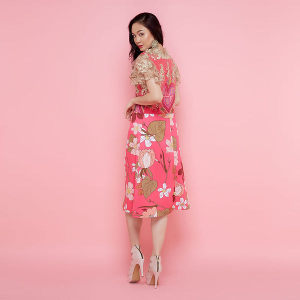 Helena Dress In Surprise Sunrise Pink