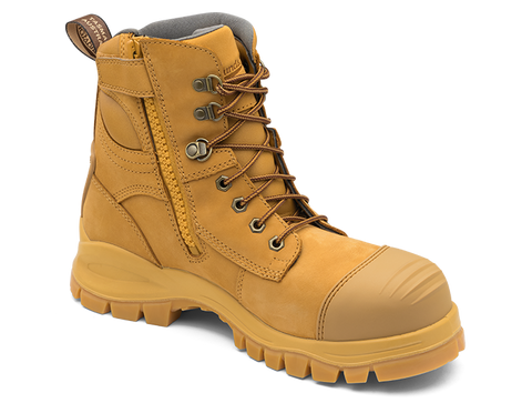 BLUNDSTONE 992 ZIP SIDE SAFETY BOOT WHEAT - REDZ WORKWEAR + TOOLS NORTH LAKES