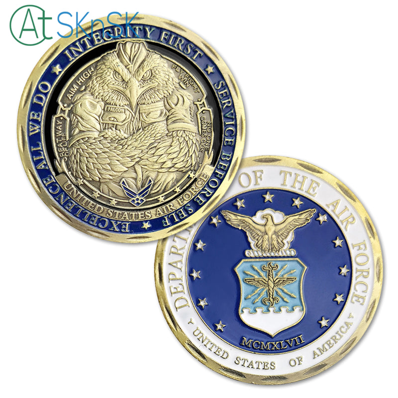 Air Force Of United States' Department Challenge Coin Antique Bronze Edition