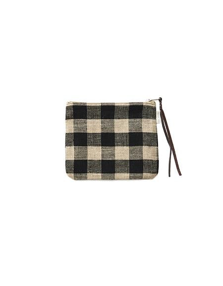 Canna Pouch Black Natural Check Medium