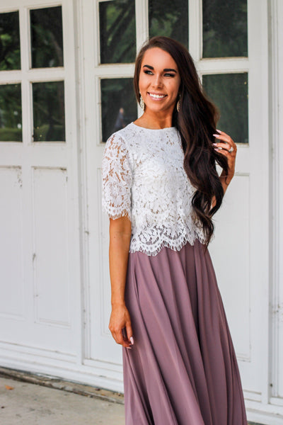 RESTOCK: Sweeter Than the Next Top: White - Bella and Bloom Boutique