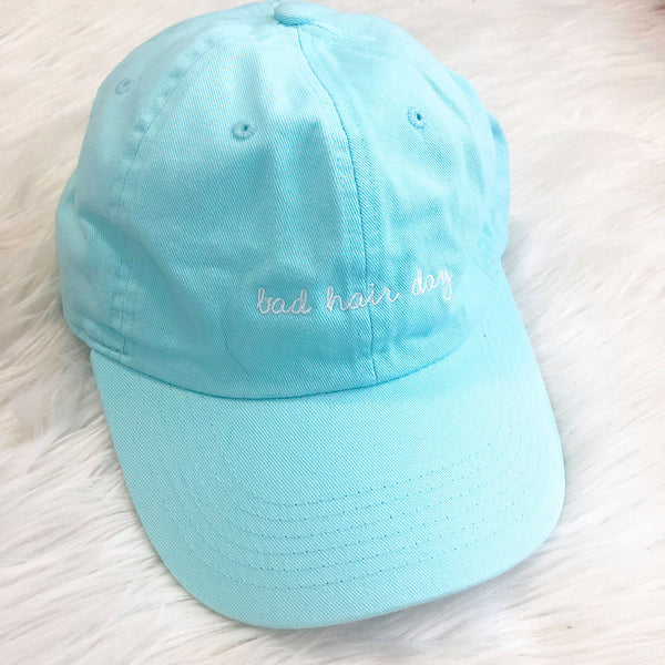 Bad Hair Day Ball Cap: Mint - Bella and Bloom Boutique