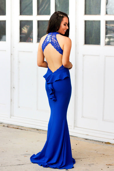 Party in the Back Maxi Dress: Royal Blue - Bella and Bloom Boutique