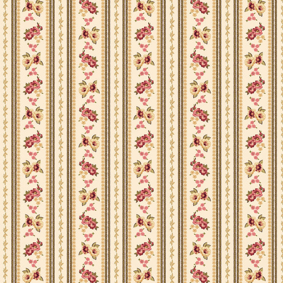 Bricolage Ivory Ticking Stripe Fabric 98644-113