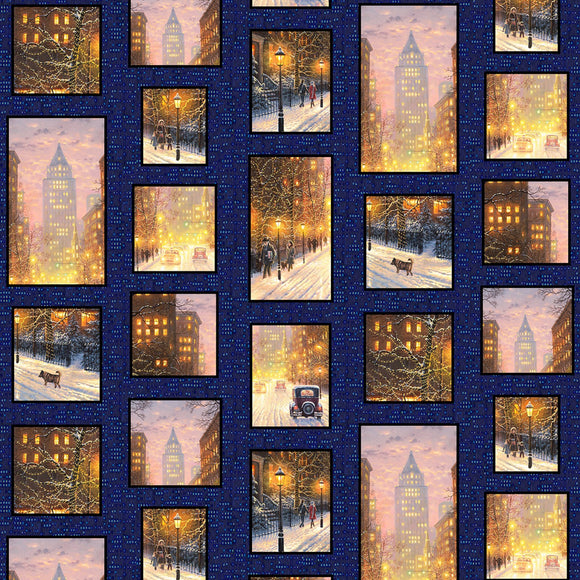 City Lights Digital Multi Patchwork Fabric 03003-MU from P & B by the yard