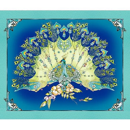 Pretty As A Peacock Panel 24934 Y_l