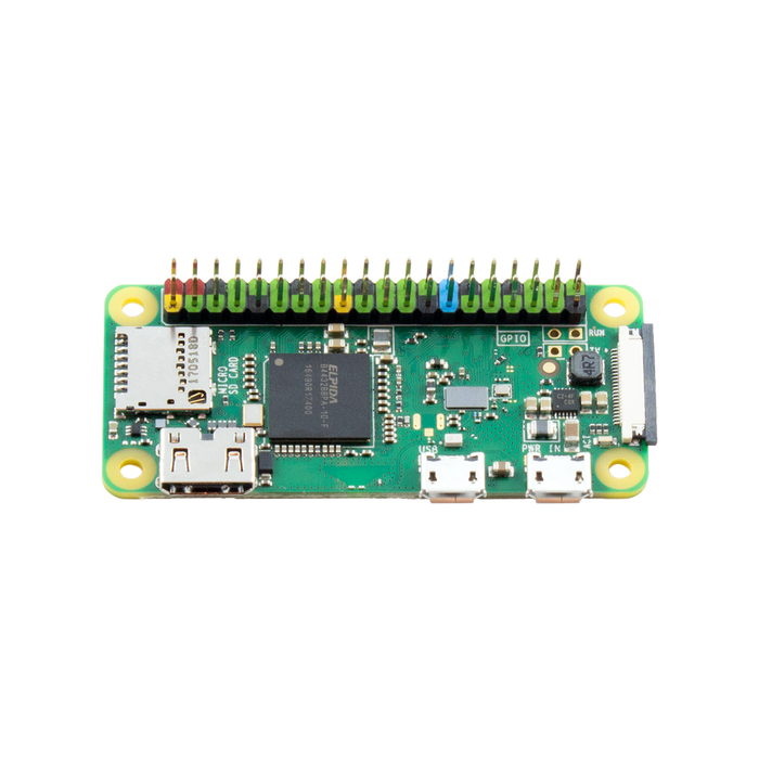 Pi Zero W with Colour Coded Soldered Header