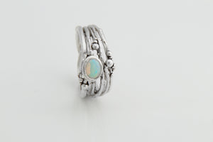 Opal & Sterling Silver Tree Ring