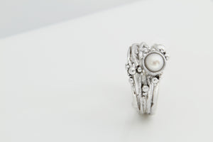 Silver & Pearl Tree Ring