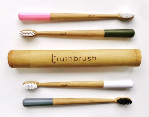 Bamboo Toothbrushes and Holder